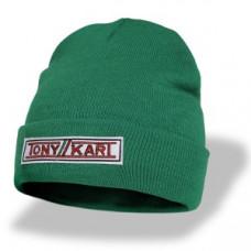 Шапка Tony Kart темно-зеленая