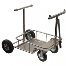 Тележка хром с большими колесами