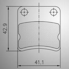 Комплект тормозных колодок Energy/Parolin детских/передних взрослых 2шт. неоригинальный