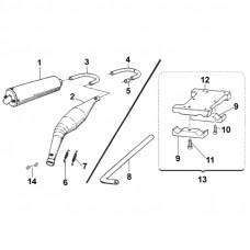 Глушитель и моторная подставка